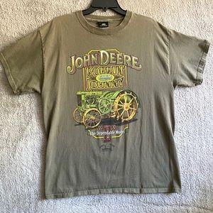 JOHN DEERE Poppin Johnny Men Sz L Vintage T-Shirt